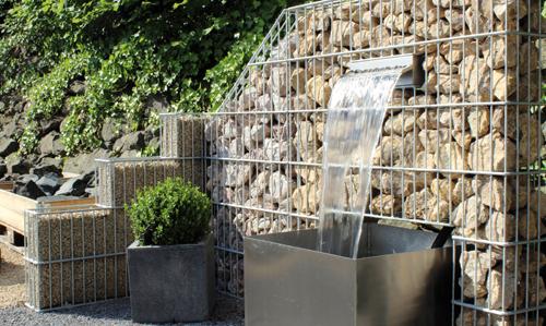 gestalten sie sich ihren lieblingsplatz - steine, gabionen & mehr - Wasserfall Garten Gabione